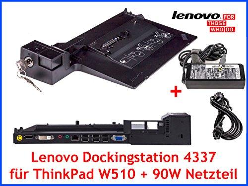 Original Lenovo Dockingstation 4337 + Schlüssel + 90W Netzteil für ThinkPad W510
