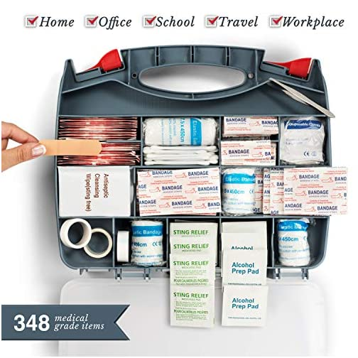 2-in-1 First Aid Kit (348-Piece) 'Double-Sided Hardcase' + Bonus 32-Piece Mini Kit: Perfect for Home & Workplace Safety… 5