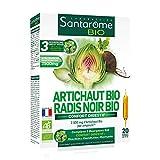Santarome Bio Artichaut Radis Noir 20 Ampoules Complément Alimentaire Confort Digestif Programme 10 Jours