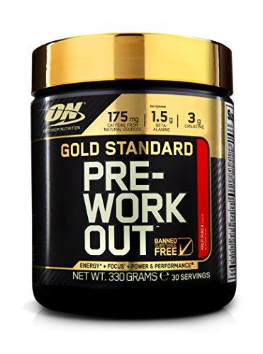 Optimum Nutrition Gold Standard Pre Workout Booster con Creatina Monoidrato, Beta Alanina, Caffeina e Complesso di Vitamina B, Mix di Frutta, 330 g, 30 Porzioni