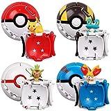 4Pcs Pokemon Go Pikachu Carry Pokeball Figura De Acción 7Cm, Figura De Anime Monstruo De Bolsillo Variante Bola Modelo Set PVC Juguetes para Niños Regalo
