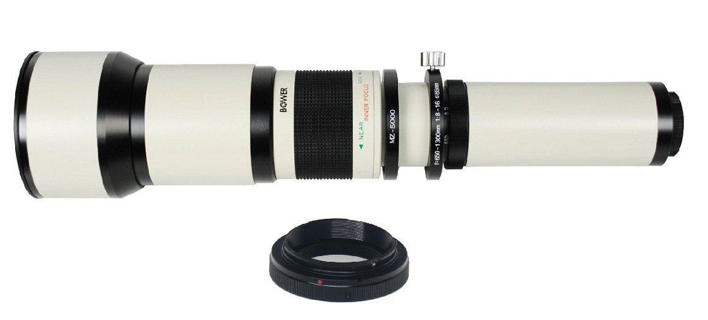 Teleobjetivo para cámara réflex digital, enfoque manual, objetivo ...