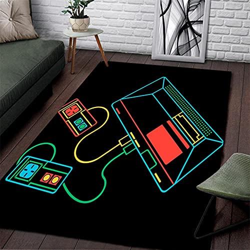 Sala De Juegos Para Niños Alfombra De Guardería Video Pixel Game Over Videojuego Decoración Para El Hogar Alfombrillas Para El Piso Sala De Estar Dormitorio Alfombras ( Color : A7 , Size : 50*80cm )