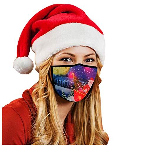 Gpure Adulto Algodón Bufanda con Luz LED Navidad Mujer Hombre 2020 Invierno Fiesta Rojo Brillante Pareja Regalo...