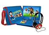 Ematic NPW7221PW Nickelodeons Paw Patrol Theme Portable DVD Player with 9-Inch Swivel Screen, Travel Bag and Headphones, Blue
