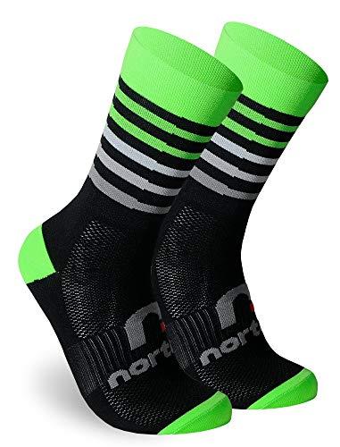 NORTEI - Calcetines de Ciclismo, MTB y Running de Meryl para