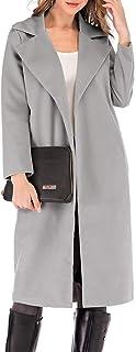 Romacci Women's Coat Long Sleeve Pocket Longline Winter Fall Warm Coat Overcoat