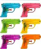 KP Set von 12 cm 6-teiligen Wasserpistolen, Geschenk für Geburtstagsfeiern und Feiern von Jungen und Mädchen