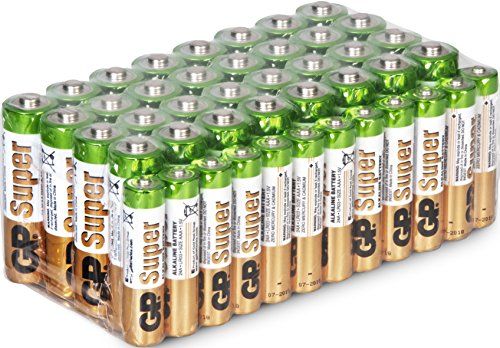 Batterien 32x Mignon AA LR6 & 12x Micro AAA LR03 Megapack 44 Stück GP Batteries Super Alkaline