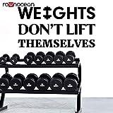zqyjhkou Gewichte Heben Sich Nicht selbst Zitate Gym Wall Decal Bodybuilding motivierende Fitness...