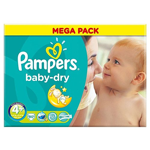 Pampers Baby Dry Gr. 4 + Maxi Plus 9–20 kg (80)