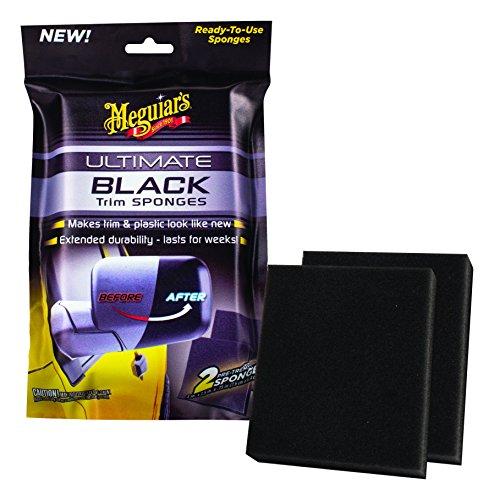 Meguiar`s ME G15800 Ultimate Trim Sponges, Noir, 7.6 x 6.4 x 1.9 cm, Set de 2 Pièces