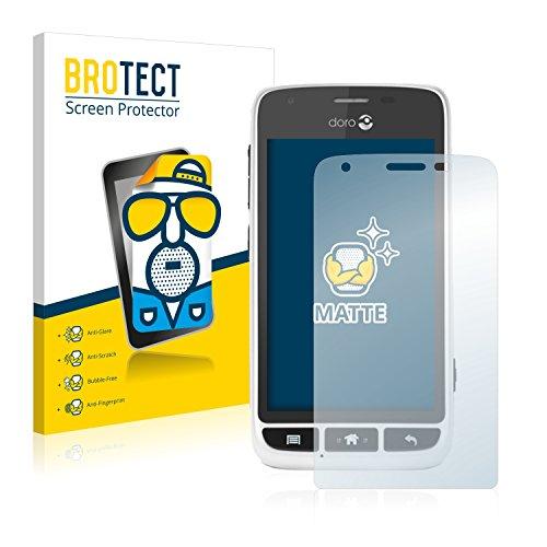 BROTECT 2X Entspiegelungs-Schutzfolie kompatibel mit Doro Liberto 820 Mini Bildschirmschutz-Folie Matt, Anti-Reflex, Anti-Fingerprint