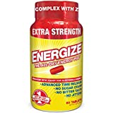 iSatori Energize Extra Strength Caffeine Pills - Fast Acting Long-Lasting Energy Pill -...
