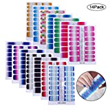14 Sheets Nail Stickers, Pure Color...