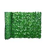Foglia Fence Pannelli foglia artificiale schermo Hedge recinto privacy Rotolo parete abbellimento esterno giardino sul retro Balcone Fence (0.5x1M)