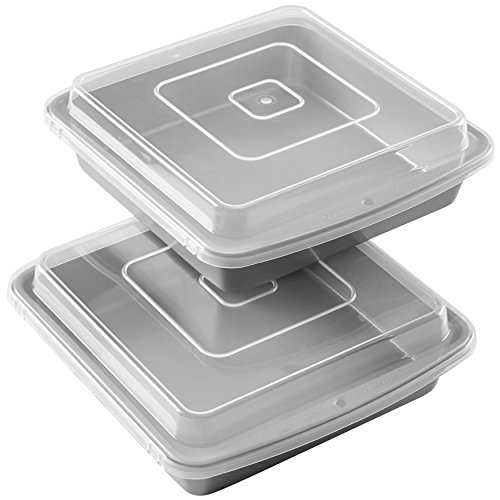 Wilton 9x9-Inch Baking Pans with Lids
