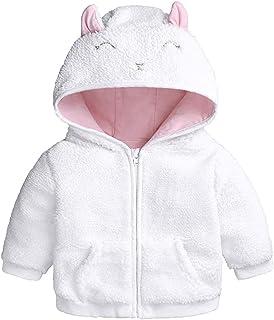 MODNTOGA Newborn Baby Boys Girls Fall Winter Hooded Jacket Coat with Ears Warm Outwear Coat Zipper Up Jacket Sweatshirt