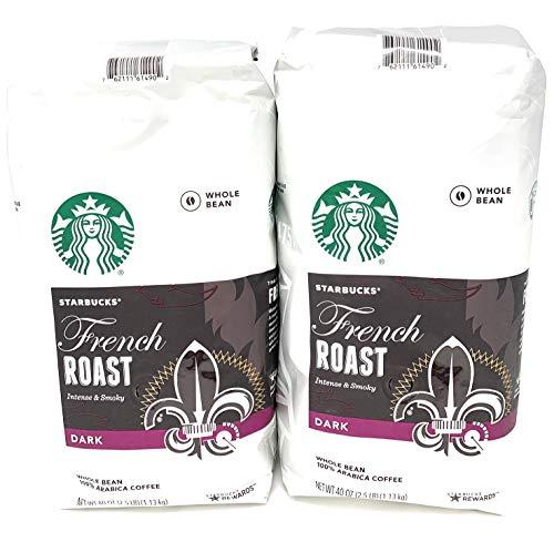 2 Packs of 40 Oz Starbucks French Roast Whole Bean Coffee = 2 x 40 Oz = 80 Oz