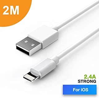 TEGAL Phone Charger Cable 2M Extra Long, USB Charging Cable Cord Compatible for iPhone Xs Xr Xs Max X 8 8 Plus 7 7Plus 6 6...