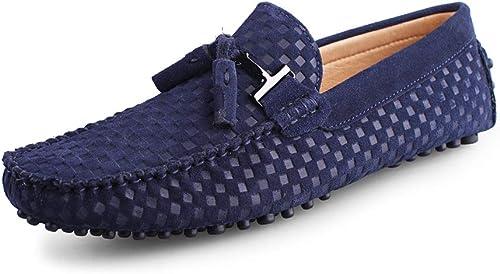 classeic Uomo Mocassini Slip On Penny Comfort Scamosciato Loafers Sautope da Guida Oxford Piatto Sautope da Barca
