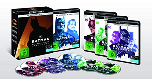 Batman 1-4 - 4K Collection (4K Ultra HD + Blu-rays) (8 Discs)