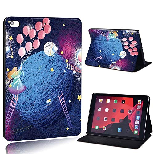 lingtai para Ap iPad 2 3 4 5 6 7 / Aire 1 2 Air 3 10.5 / Pro 11 / Pro 2ND 10.5 PU de Cuero de PU Impreso Tablet Soporte Folio Funda a Prueba de Golpes (Color : Fanta, Size : 2019 7th 10.2)