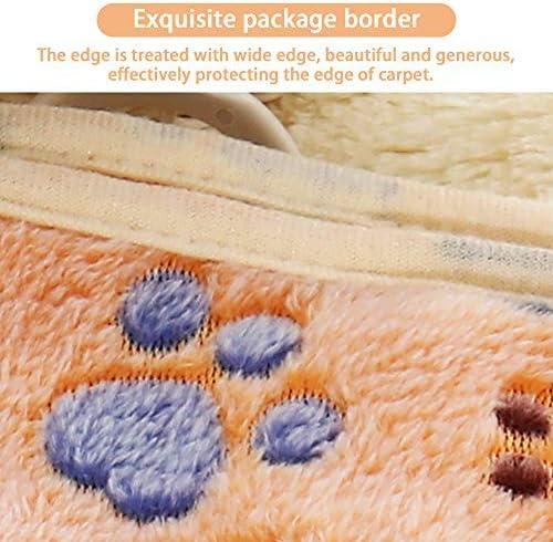 Pet Soft Pet Dog Blanket Super Absobent Fabri 3M, Brown P Cute Pattern