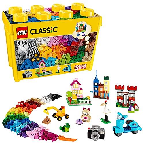 LEGO 10698 Classic Große kreative Bausteine-Box, Aufbewahrungsbox, Bunte Bausteine für LEGO Baumeister, Bauset