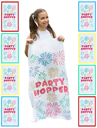 8 Pack - Durable Potato Sack Race Bags, No Weird Burlap Odors, No Messy Burlap Fibers, 23.5' x 41', Birthday Party Games, Outdoor Games for Kids