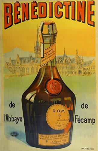 ELITEPRINT - Póster de reproducción de Cartel (tamaño A3, 250 g/m², con Texto en inglés), diseño Vintage de Cervezas, vinos y licores benedictinos