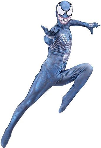 comprar descuentos KYOKIM Venom Venom Venom Traje De Spiderman Horror Cosplay De Halloween Masquerade Disfraz Disfraz De Adulto,azul-XXL  calidad garantizada