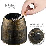 ecooe XL Windaschenbecher Bronze Edelstahl Aschenbecher für Draußen & Innen Groß Metall Tisch Ascher - 3