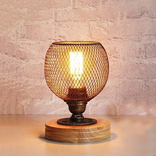 Vintage industriële metalen tafellamp retro water buis bureaulamp nachttafellamp E27, werkkamer kantoor bars cafés decoratieve tafellamp, 110V-220V XIANGYU