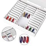 Clevoers Nail Art Box Nailart Display, Nagel Aufbewahrungsbox Beispiel Display Container zur Präsentation und Aufbewahrung von Nailart Strass Piercing