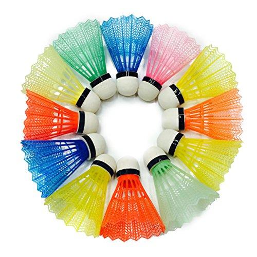 VORCOOL Volani di badminton di nylon colorati 12PCS