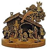 17 cm Familia Sagrada con Estrella Figuras de bel/én de Madera de Olivo Fabricado en Bel/én KASSIS