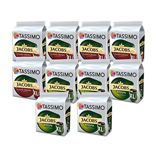 Tassimo Jacobs Café Crema Kronung XL Kaffee Kapseln, 10er Pack, 160 Getränke