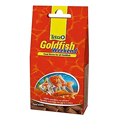 Tetra Goldfish Weekend Fish Food, Complete Fish Food for All Goldfish, 10 Sticks