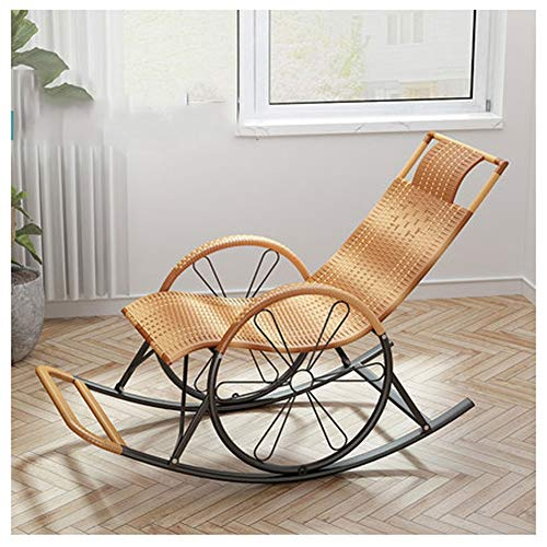 ZCL Folding Chairs for Outide Lightweight Rattan Outdoor Sun Rocking Chair ,Sunbed Sunlounger Loungers Recliner Sling Chair Garden Chair. Folding Chair Covers (Color : Gray)