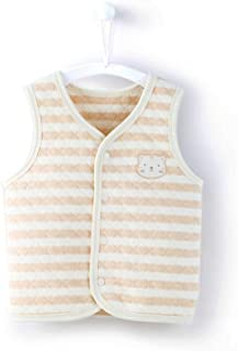 COBROO Unisex Baby Vest Spring/Autumn/Winter 100% Cotton Infant Snap-Up Front Vest 3-24 Months