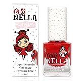 Miss Nella CLASS CLOWN- Esmalte rojo especial para uñas para niños, fórmula despegable, a base de agua y sin olor