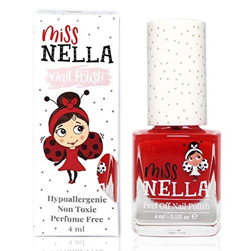 Miss Nella CLASS CLOWN- Spezieller Rot Nagellack für Kinder, Peel-Off-Formel, wasserbasiert und...