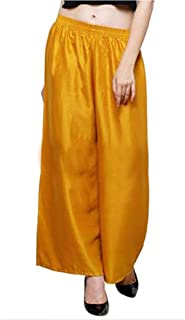 Sharvgun Women's Plazzo Bottom Wear Plain Rayon Ethnic Palazzo Pants Trousers with Tops Kurti Kurtis Kurta