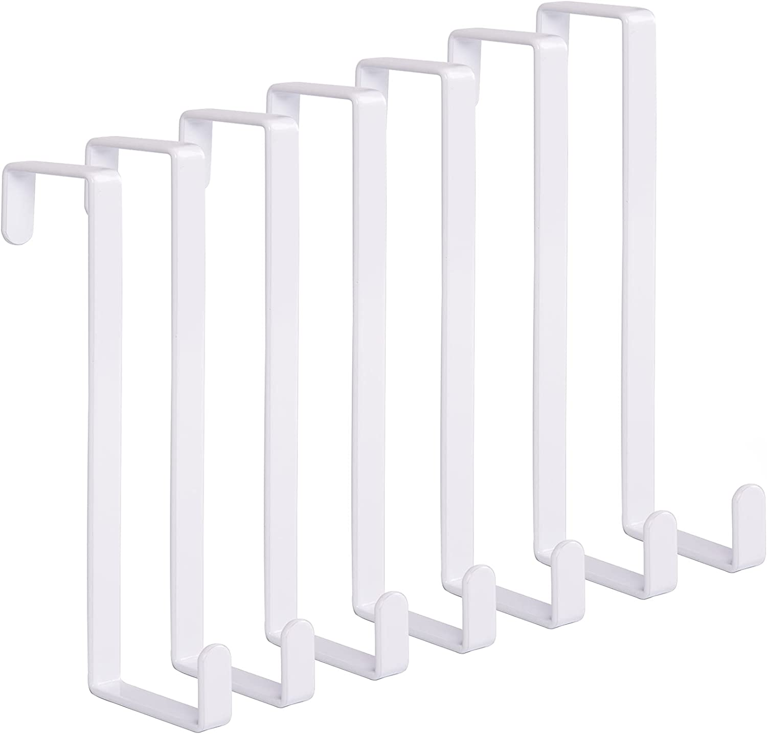 Same day shipping Woillion Over the Award-winning store Door Hooks for Metal Sturdy 7Packs Clothes Ov
