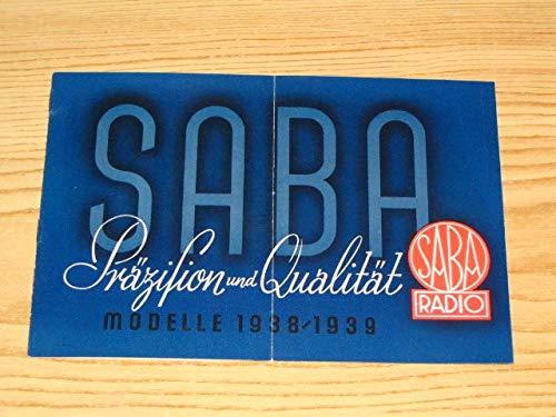 Saba - Präzision und Qualität - Modelle 1938 / 39