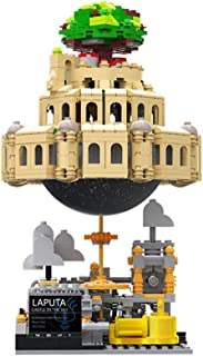 QJXF Castle in The Sky Building Blocks with Music Box, Creative Children's Spelling Puzzle Assembled Educational Simulation Model Block Toys for Boys and Girls
