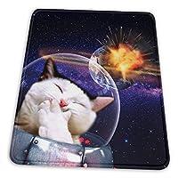 マウスパッド ゲーミングマウスパット 猫は地球Ufoスペースを破壊します デスクマット 超大判 高級感 おしゃれ 耐久性が良い 滑り止めゴム底 ゲーミングなど適用 マウスの精密度を上がる 防水設計 複数サイズ
