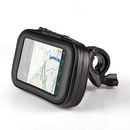 OKCS Fahrrad-Lenker-Tasche - Bike Holder wasserdichte Universal-Tasche für Smartphones wie iPhone, Galaxy, Xperia etc. - Größe L