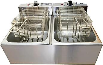 Fritadeira Elétrica 2 Cubas Plus Aço Inox 12L 110v 4000W